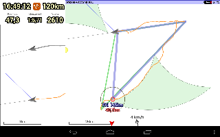 XCTrack 0.3.4 - XC Assistant with new navigation, wind and sun icons
